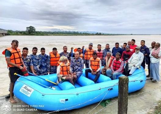 राप्ती नदीको भंगालोमा फसेका ४ जनाको १३ घण्टापछि सकुशल उद्दार